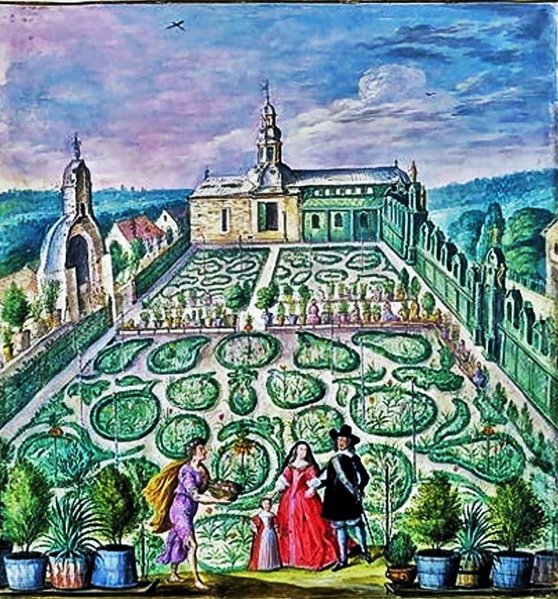 Superbe Johann Jakob Walther ( 1650 1704) A Dutch Garden, 1660